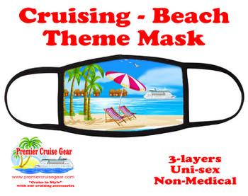 Cruising and Beach theme mask - design 070