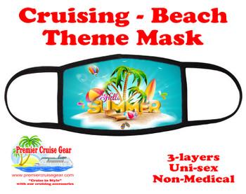 Cruising and Beach theme mask - design 071