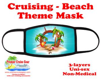 Cruising and Beach theme mask - design 072