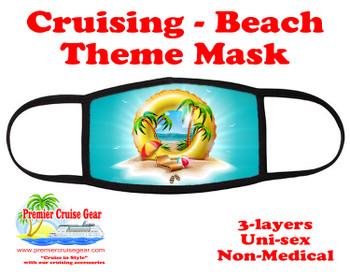 Cruising and Beach theme mask - design 073