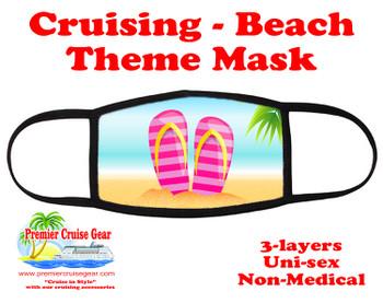 Cruising and Beach theme mask - design 075