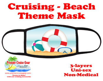 Cruising and Beach theme mask - design 076