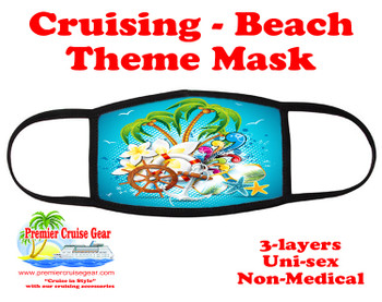 Cruising and Beach theme mask - design 077
