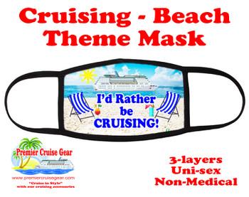 Cruising and Beach theme mask - design 100