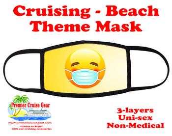 Cruising and Beach theme mask - Smiley