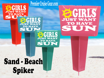 Beach - Sand Spiker.  Keep your drinks sand free.  Design 001