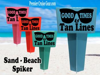 Beach - Sand Spiker.  Keep your drinks sand free.  Design 005