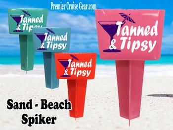 Beach - Sand Spiker.  Keep your drinks sand free.  Design 006