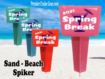 Beach - Sand Spiker.  Keep your drinks sand free.  Design 010