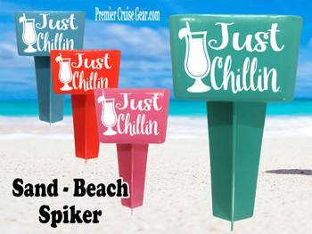 Beach - Sand Spiker.  Keep your drinks sand free.  Design 033