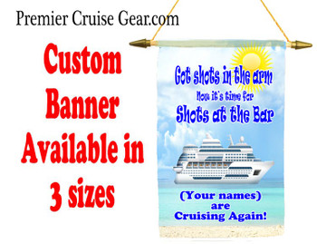 Cruise Ship Door Banner -  available in 3 sizes.    Custom with your names