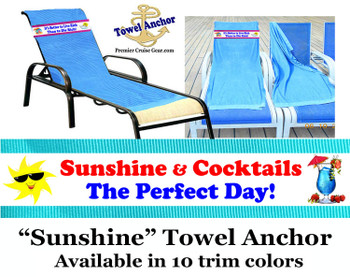 """Towel Anchor - Keep your towel anchored to your chair! - """"Sunshine"""""""