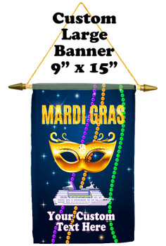 Cruise Ship Door Banner -  available in 3 sizes.    Custom with your text!  - Mard Gras 1