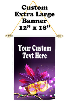 Cruise Ship Door Banner -  available in 3 sizes.    Custom with your text!  - Mard Gras 21