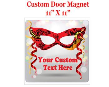 "Cruise Ship Door Magnet - 11"" x 11"" - Mardi Gras 1"