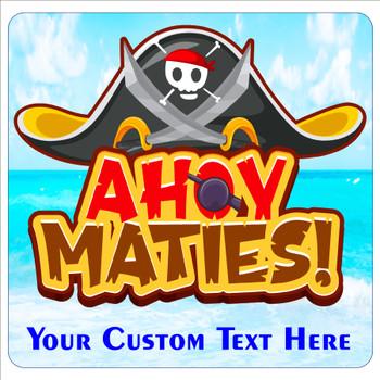 """Cruise Ship Door Magnet - 11"""" x 11"""" - ahoy maties"""
