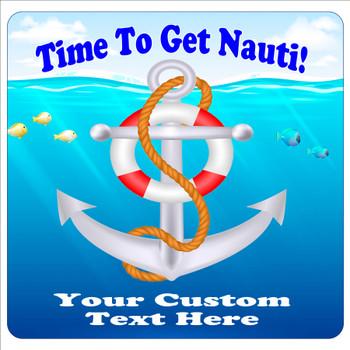 "Cruise Ship Door Magnet - 11"" x 11"" - nauti 1"