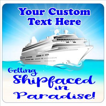 "Cruise Ship Door Magnet - 11"" x 11"" - shipfaced 1"