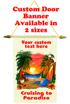 Cruise Ship Door Banner - Cruising to Paradise 1
