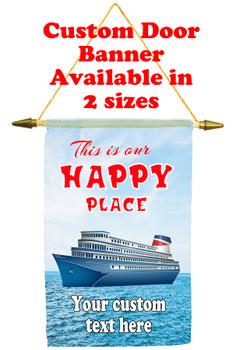 Cruise Ship Door Banner - Happy Place 2