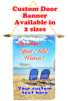 Cruise Ship Door Banner - Life is Simple 2