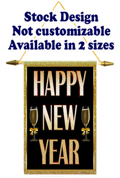Cruise Ship Door Banner Stock Design - Happy New Year 1