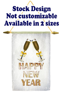 Cruise Ship Door Banner Stock Design - Happy New Year 2