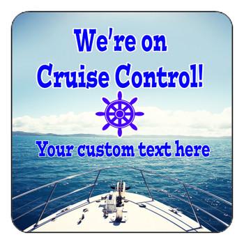 "Cruise Ship Door Magnet - 11"" x 11"" - Cruise Control 2"