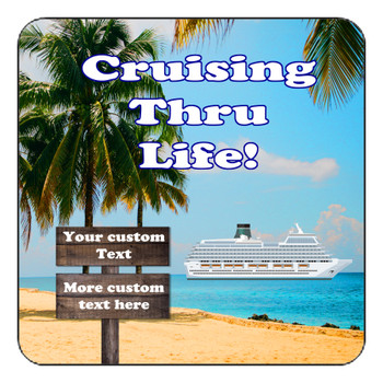 "Cruise Ship Door Magnet - 11"" x 11"" - Sign Post 3"