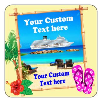 "Cruise Ship Door Magnet - 11"" x 11"" - Sign"