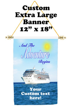 Cruise Ship Door Banner - Extra-Large Banner  (adventure)