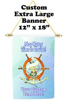 Cruise Ship Door Banner - Extra-Large Banner  (ahoy mates)