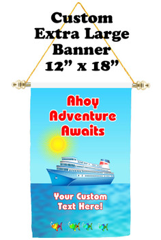 Cruise Ship Door Banner - Extra-Large Banner  (ahoy)
