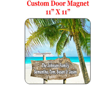 "Cruise Ship Door Magnet - 11"" x 11"" - Sign Post"