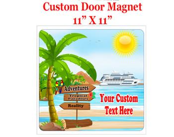 "Cruise Ship Door Magnet - 11"" x 11"" - Sign Post 6"