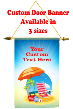 Custom cruise ship door banner.  Door banner that can be customized for your cruise ship door.
