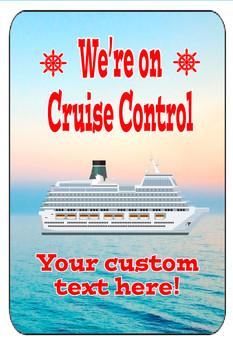 "Cruise Ship Door Magnet - Extra large 11"" x 17"" - Cruise Control 1"