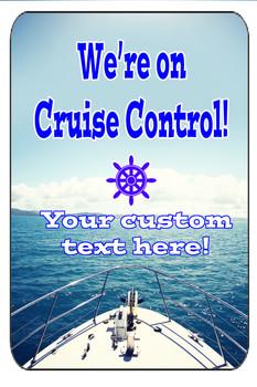 "Cruise Ship Door Magnet - Extra large 11"" x 17"" - Cruise Control 5"