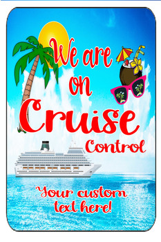 "Cruise Ship Door Magnet - Extra large 11"" x 17"" - Cruise Control 7"