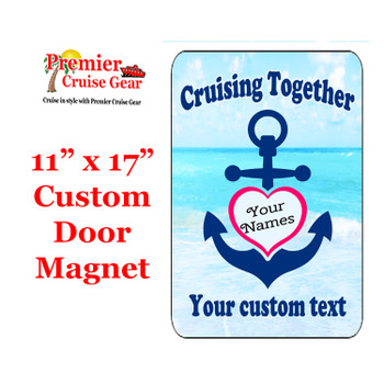 """Cruise Ship Door Magnet - Extra large 11"""" x 17"""" - Together"""