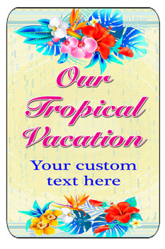 """Cruise Ship Door Magnet - Extra large 11"""" x 17"""" - Tropical"""
