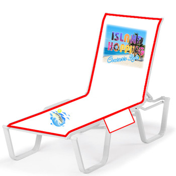"""Lounge chair cover - Stock design """"Island Hopping"""""""