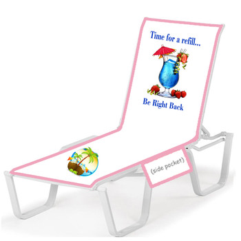 """Lounge chair cover - Stock design """"Refill"""""""