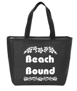 Beach Bound Canvas Tote Bag