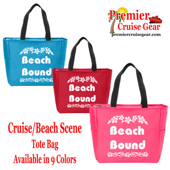 Beach Bound Canvas Tote Bag