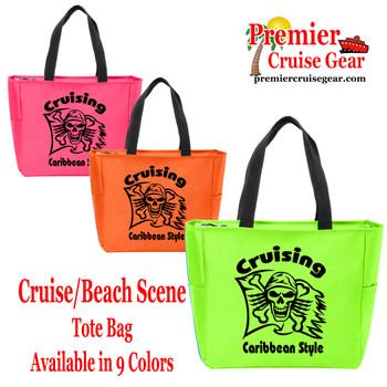 Cruising Caribbean Style Canvas Tote Bag