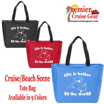 Life is Better  Canvas Tote Bag