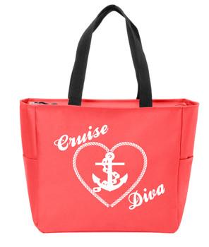 Cruise Diva  Canvas Tote Bag