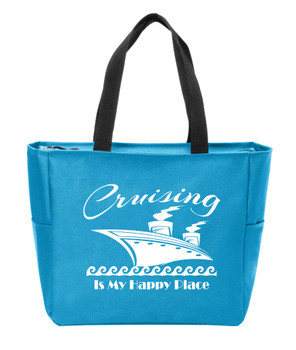 Happy Place Canvas Tote Bag