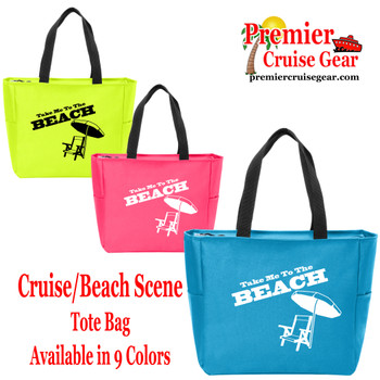 To The Beach Canvas Tote Bag